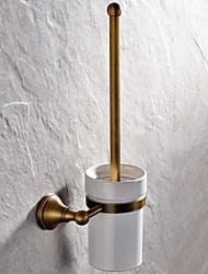 Toilet Brush Holder / Antique Brass Brass /Antique