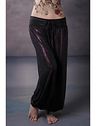 Belly Dance Bottoms Unisex Performance Training Elastic Woven Satin Dropped
