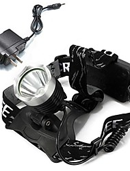 cheap Head lamps-Headlamps LED 1600lm with Charger Rechargeable Camping / Hiking / Caving / Cycling / Bike / Outdoor