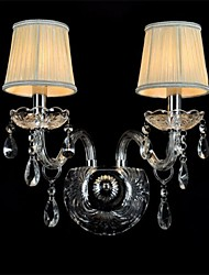 cheap -Crystal/Mini Style Wall Sconces/Candle Wall Lights , Modern/Contemporary E12/E14 Glass