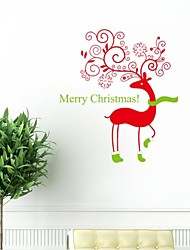 cheap -Wall Stickers Wall Decals, Christmas Bear With Socks PVC Wall Stickers.