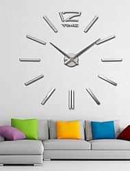 """40 """"h giganti specchio acrilico orologi da parete sticker superficie 3D fai da te per camera da letto soggiorno"""