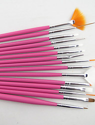 Недорогие -Набор кистей для маникюра (белый, розовый, черный)