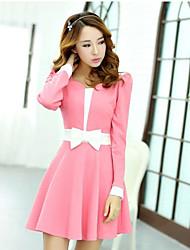 baratos -vestido bonito de manga comprida equipado de Leto mulheres