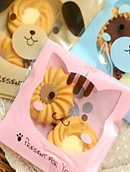 cheap -50pcs Cute Cat Cookie Bakery Candy Biscuit Jewelry Gift Plastic Packaging Bag Baby Shower Birthday Decorations