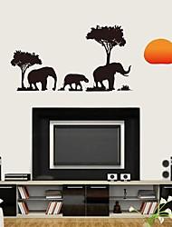 Dyr Botanisk Tegneserie Vægklistermærker Fly vægklistermærker Dekorative Mur Klistermærker Materiale Kan genpositioneres Hjem Dekoration