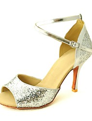 billige -Dansesko(Sort Rød Sølv Guld) -Kan tilpasses-Personligt tilpassede hæle-Damer-Latin Salsa Ballet