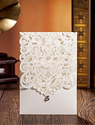 "cheap -Wrap & Pocket Wedding Invitations Invitation Cards Card Paper 5""×7 ¼"" (12.7*18.4cm)"