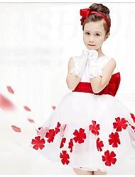 baratos -Menina de Vestido Floral Verão Sem Manga Roxo Fúcsia Vermelho Azul Rosa claro