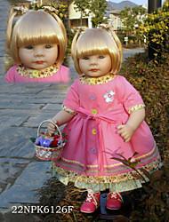 povoljno -Autentične bebe Beba 22inch Silikon / Vinil - novorođenče, vjeran, Ručno Izrađen Djevojčice Dječjom Poklon