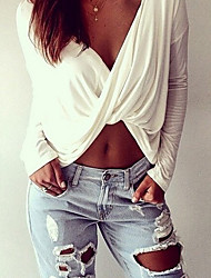 cheap -Sheffield Women's Sexy Round Long Sleeve T-Shirts (Cotton Blend)