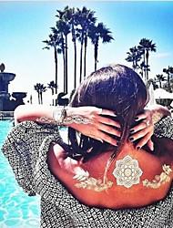 Недорогие -1 pcs Временные тату Временные татуировки Тату с цветами / Тату со стразами Водонепроницаемый / Non Toxic / Гавайский Искусство тела / Hawaiian / Нижняя часть спины / Waterproof