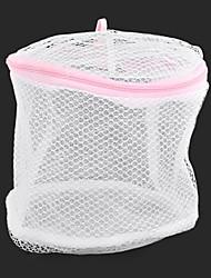 baratos -elegante plástico dobrável saco de roupas íntimas de nylon com zíper de lavar