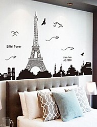 cheap -Architecture Romance Still Life Fashion Landscape Fantasy Wall Stickers Plane Wall Stickers Decorative Wall Stickers,Vinyl Home Decoration