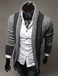 economico -Standard Cardigan Da uomo-Casual A strisce Manica lunga Lana Cotone