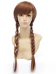 cheap -Top Quality Hot Movie Carton Queen Cosplay Wigs Brown  Synthetic  Hair Wig Long Anime Wig