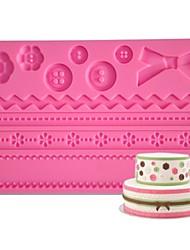 Недорогие -FOUR-C Кнопка силиконовая подкладка помады и gumpaste плесень, торт поставки помадные коврик инструменты сахарная паста коврик торт