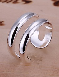 cheap -Ring Wedding / Party / Daily / Casual Jewelry Sterling Silver Women Band Rings 1pc,Adjustable Silver