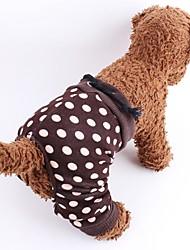 Gatto Cane Pantalone Abbigliamento per cani Cosplay Matrimonio A pois Marrone