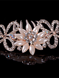 cheap -Crystal Fabric Alloy Tiaras Hair Combs 1 Wedding Special Occasion Party / Evening Casual Headpiece