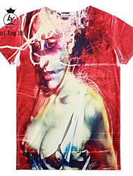 baratos -Homens Camiseta Estampado, Personagem