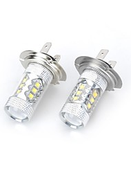 H7 Decoration Light 14 High Power LED 2000-3000 lm Cold White 6500 K DC 12 DC 24 V 2pcs