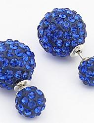 povoljno -Žene Naušnica Personalized Vintage Slatko Zabava Posao Ležerne prilike Europska Umjetno drago kamenje Legura Jewelry Obala Crn Plava
