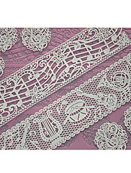 Недорогие -Four-C поставок торт кружева силиконовый коврик форма для тиснения для торта кружева, выпечка площадку кружева коврик отделочных работ цвет розовый