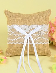 cheap -Ring Pillow In Linen With Lace And Bow The Wedding Store Wedding Theme
