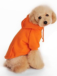 cheap -Dog Hoodie Dog Clothes Black Orange Gray Red Cotton Costume For Pets Men's Women's Holiday