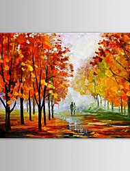 iarts pintura a óleo paisagem moderna adora juntamente país estrada de mão telas pintadas com quadro esticado