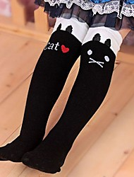 cheap -Girl's Winter/Spring/Fall Cartoon Cat Stretchy Medium Leggings (Cotton/Polyester)