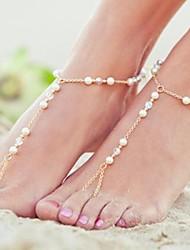 cheap -Metal Barefoot Sandals Women's Wedding Vacation Gold