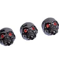 Недорогие -3 шт черный металл ручки управления череп головы для регулировки громкости гитары горшки тон ручки / кнопки Электрогитара