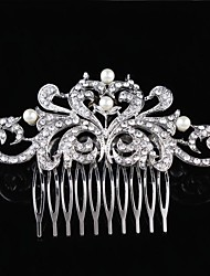 Sterling Silver Crystal Alloy Hair Combs Flowers Headpiece