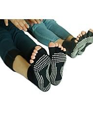 abordables -Femme Chaussettes Antidérapantes / Chaussettes Basses à Orteils Séparés - Noir, Gris Des sports Chaussettes Yoga Tenues de Sport