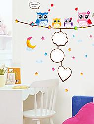 decalques de parede adesivos de parede, parede estilo dos desenhos animados coruja pvc adesivos