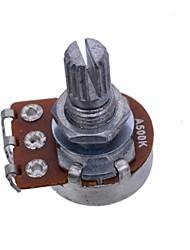 Недорогие -a500k долго разделить вал 18 мм объемное электрическое звучание гитар горшки звуковой сигнал потенциометра переключатель 50шт / много