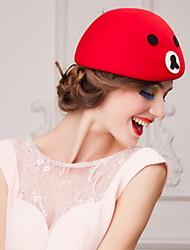 Недорогие -сладкий шерсть женский открытый / особый случай / случайный / свадьба / партии шляпа с рисунком (больше цветов)