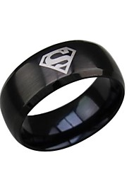 cheap -Men's Band Ring / Statement Ring - Titanium Steel Fashion 7 / 8 / 9 Black / Silver / Golden For Wedding / Party / Daily