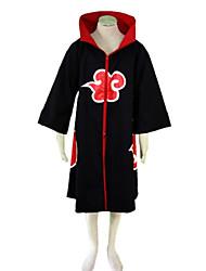 billige -Inspireret af Naruto Sasuke Uchiha Anime Cosplay Kostumer Cosplay Kostumer Trykt mønster Kappe Til Herre Dame