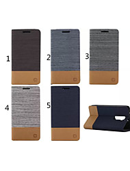 voordelige -hoesje Voor LG G2 / LG LG hoesje Portemonnee / Kaarthouder / met standaard Volledig hoesje Effen Hard PU-nahka voor