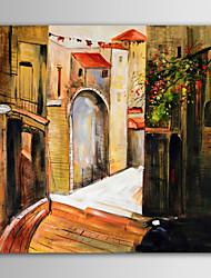 iarts pittura a olio di paesaggio moderna costruzione europea a mano tela dipinta con telaio allungato