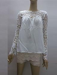 cheap -Women's Vintage Shirt - Patchwork