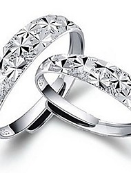 Zpcs argent étoilé ouverture anneau de mariage élégant style féminin