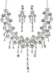 Mulheres Gargantilhas Forma Geométrica Imitações de Diamante Liga Básico Jóias Para Casamento Festa Aniversário Noivado
