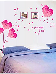 cheap -Removable Romantic Pink Loving Heart Bedroom/Living Room Wall Sticker