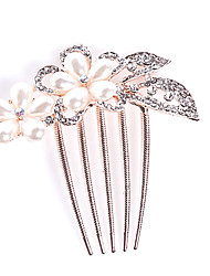 cheap -Crystal Fabric Alloy Tiaras Hair Combs 1 Wedding Special Occasion Party / Evening Casual Office & Career Outdoor Headpiece