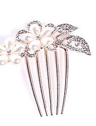 abordables -Mujer Niña de flor Aleación Celada-Boda Ocasión especial Casual Oficina Al Aire Libre Peinetas