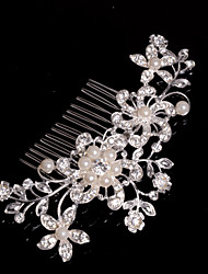 cheap -Alloy Hair Combs With Imitation Pearl/Rhinestone Wedding/Party Headpiece